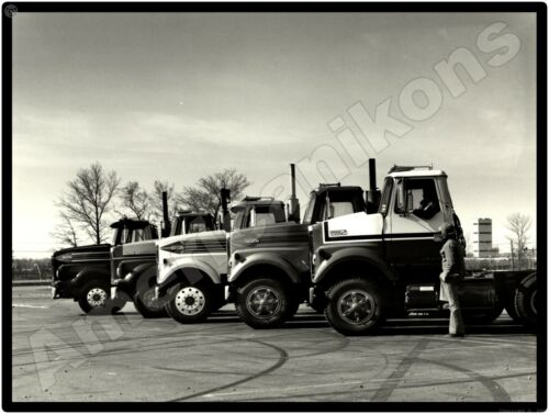 White Trucks New Metal Sign: White Road Boss Tractors All in a Row