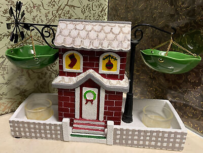 YANKEE CANDLE Christmas Country House Double Hanging Wax Tart Warmer Burner