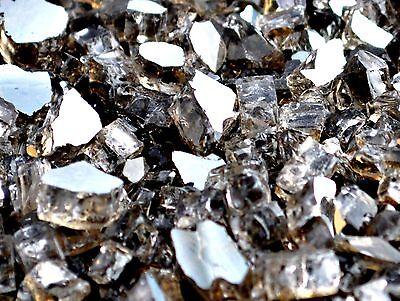 """10 Lbs 1/4"""" BRONZE REFLECTIVE FireGlass Fireplace,Fire Pit Glass Rocks Crystals"""