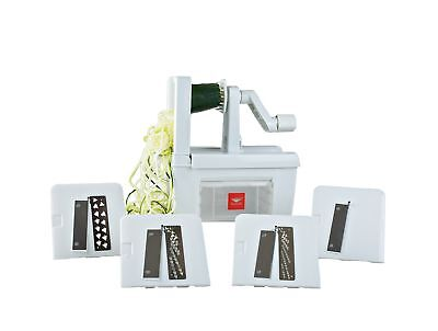 Paderno World Cuisine 4-Blade Folding Vegetable Slicer/Spiralizer Pro,