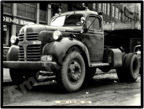 Dodge Trucks New Metal Sign: Dodge 3 Ton Truck, Chicago, 1947
