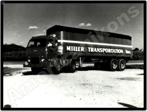 White 3000 Trucks New Metal Sign: Miller Transportation Truck & Trailer