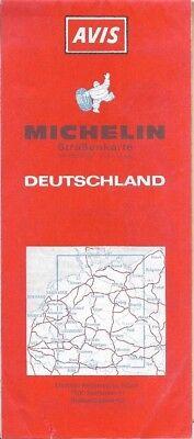 1989 Michelin Avis Car Rental Road Map Germany Deutschland Autobahn Motorway