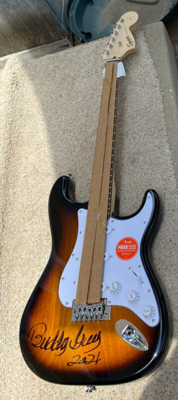 Buddy Guy signed Fender Squier Guitar COA