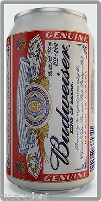 Budweiser Beer Can Refrigerator / Tool Box Magnet Man Cave Item