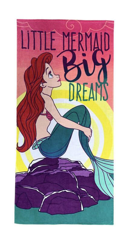 "The Big One Little Mermaid Ariel Quick Dry Kids Beach / Bath Towel 28"" x 58"""