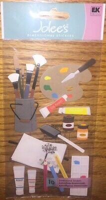 Jolees ART SUPPLIES Oil Paint Acrylic Palette Color Pencil Pigment Brush Sticker