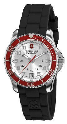 Swiss Army Maverick GS Steel Womens Strap Watch Silver Dial Calendar 241484