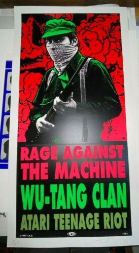 Rage Against The Machine Wu Tang Clan TAZ 1997 S/N Original