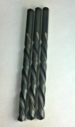 3 PCS 17/64 Left Hand, M2 H.S.S. Jobber Drill Bit, 135 Split Point, Black