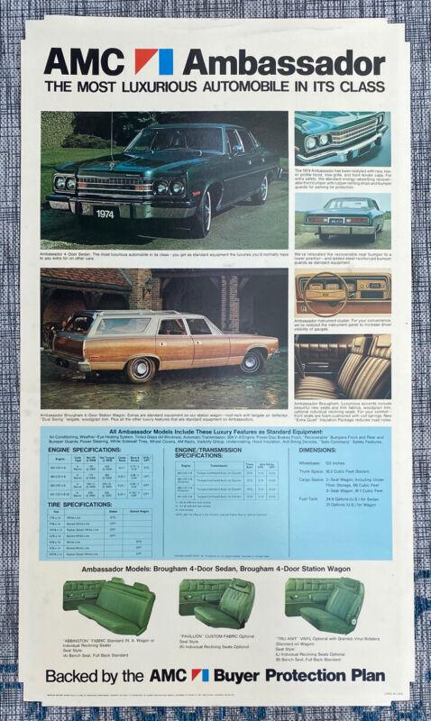 NOS 1974 AMC Ambassador dealer showroom display
