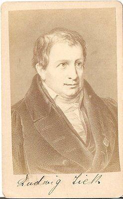 CDV photo Kunstbild Ludwig Tieck - 1870er
