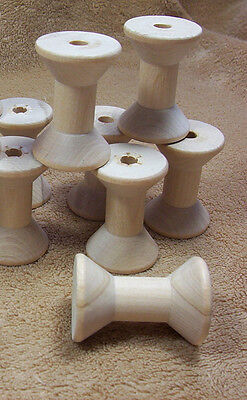 Large Hardwood Wood Wooden Thread Spools Lot of 8 School Projects Crafts