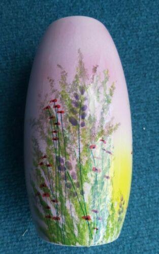 "Studio Poole 8inch  Vase ENGLAND "" MEADOW FIELD DESIGN  1 of 2 Lorna Whitmarsh"