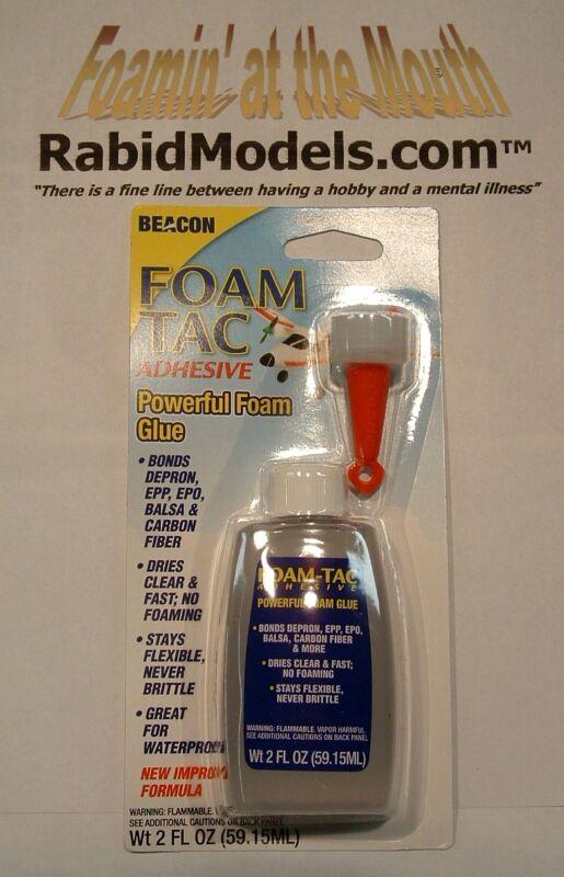 FOAM TAC GLUE Fast, CLEAR, Flexible,Waterproof FOAM SAFE 2oz Bottle - FREE SHIP!