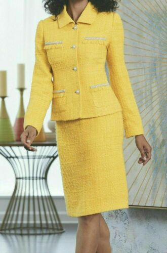 Midnight Velvet Yellow Saint Germain Formal Dress Skirt Suit 6 8 12 16W 18W 22W