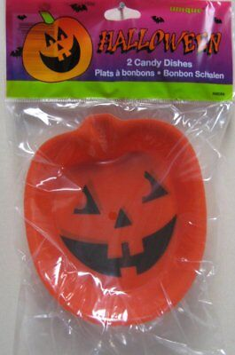 ange Pumpkin Mini Party Plastic Snack Trays (Halloween Party Snack)