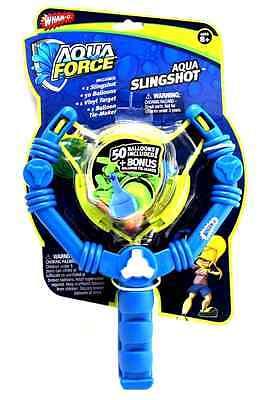 Wham-O Aqua Force Slingshot + 50 Water Balloons Slingshot Launcher & Tie Maker