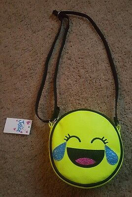 Girl's Justice adorable laughing with tears emoji purse NWT (VERY LAST ONE)](Laughing With Tears Emoji)