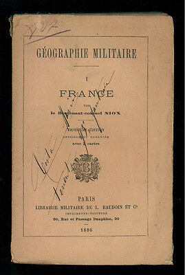NIOX GEOGRAPHIE MILITAIRE L. BAUDOIN 1886 INTRODUCTION + 6 VOLL.