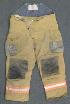 38x28 Firefighter Pants Bunker Turnout Brown Fire Gear Cairns Fire Wear P085