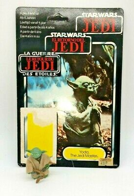 Vintage Star Wars Yoda (Brown Snake) with backing card, 1980s