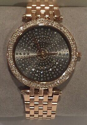 Michael Kors Darci Watch MK4408 Rose Gold Tone Crystals