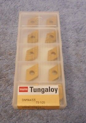 Tungaloy  Carbide Inserts Dnma 433  Grade T5105  Pack Of 10