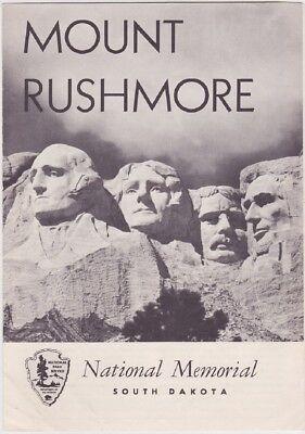 1961 Mount Rushmore National Memorial Brochure