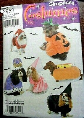 SIMPLICITY DOG COSTUMES IN TWO SIZES -  OOP UNCUT PATTERN 3952