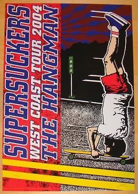2004 Supersuckers - Silkscreen Tour Poster s/n Kuhn