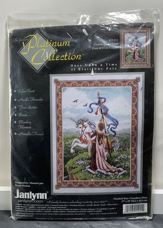 Janlynn Once Upon Time Counted Cross Stitch Kit Diana Thomas