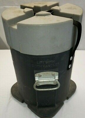 Haliburton Cylindrical Oil Rig Drill Bit Round Shipping Storage Container Gray