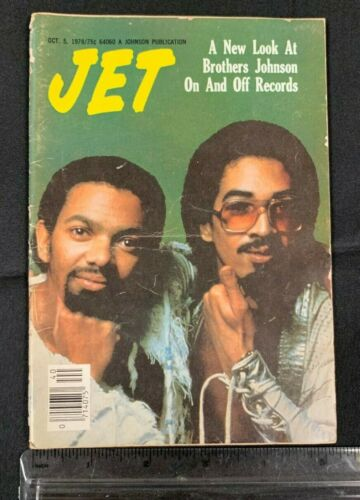 """1978 OCT 5 *JET* MAGAZINE """"A NEW LOOK AT BROTHERS JOHNSON 7720"""