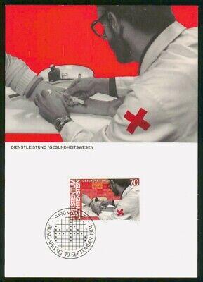 Mayfairstamps Liechtenstein FDC 1984 Taking Blood Maximum First Day Card wwo_530