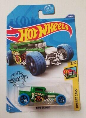 2020 Hot Wheels Bone Shaker Green * J Case * NIP 1:64 Scale