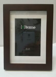 Brown walnut wooden photo picture frame 3.5x5/5x7