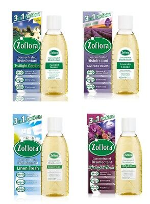 Zoflora Concentrated Antibacterial Disinfectant - 120ml - CHOOSE SCENT