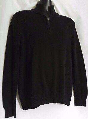 Men's Calvin Klein Black Cotton Half Zip Sweater Size M