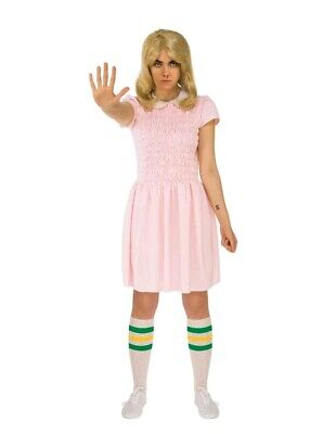 Thing 2 Costume (Eleven Pink Dress Women's XS 0-2 Costume NEW Stranger Things Cosplay)