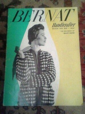 VINTAGE 1957 KNITTING BOOK # 55 BERNAT HANDICRAFTER BULKY KNITS