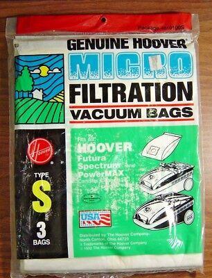 - Genuine Hoover Micro Filtration Vacuum Bags Type S4010100S Bag/3 Type S Vacume