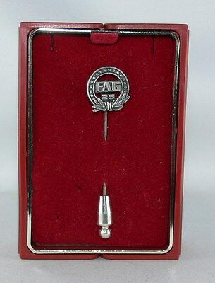 25 Jahre FAG Anstecknadel, Jubiläumsnadel, Ehrennadel in 925 Sterling  Silber