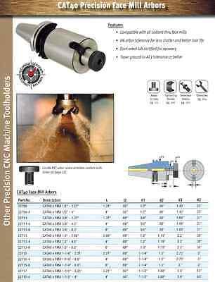 Techniks Cat40 1.0 Shell Face Mill Holder 2.06 Lag 22713