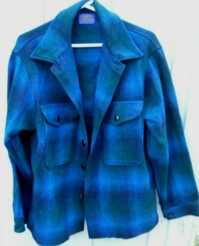VINTAGE PENDLETON  BLUE PLAID MEN
