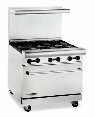 American Range Ar-6 36in Commercial 6 Burner Gas Restaurant Range W Std Oven