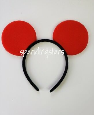 Mickey Mouse Ears Headband for Costume Rave Dress Up Birthday Supplies