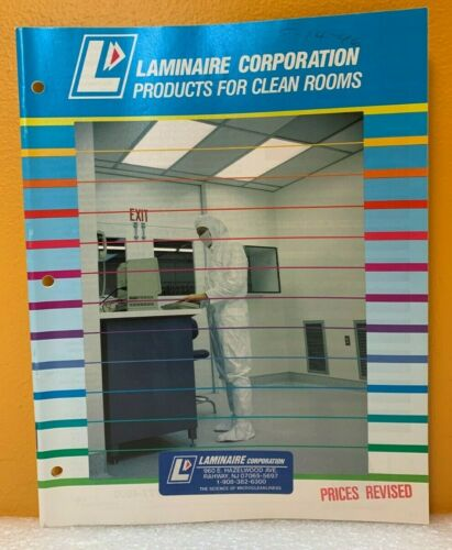 Laminaire Corporation 1992 Products for Clean Rooms Catalog.