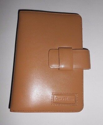 Cole Haan Credit Card Holder Tan Leather Wallet Clutch Daily Planner Binder