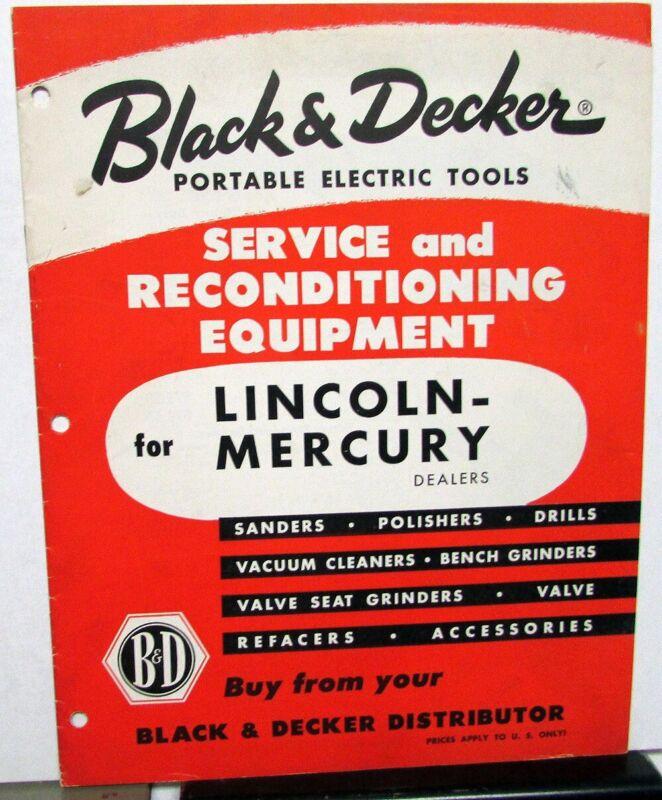 Vintage Black & Decker Electric Tools Catalog For Lincoln Mercury Dealers Orig